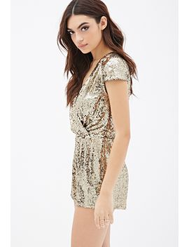 sequined-surplice-romper by forever-21