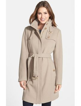 stand-collar-wool-blend-trench-coat by michael-michael-kors