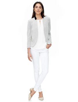 dot-jacquard-jacket by rebecca-taylor