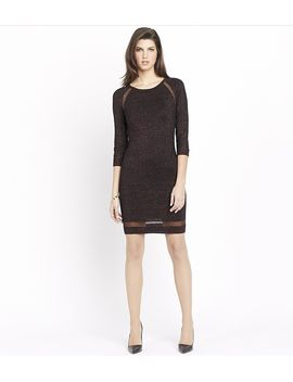shiny-bodycon-dress-with-sheer-inserts by dynamite