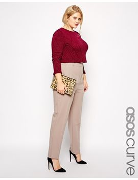 asos-curve-cigarette-pant-in-crepe by asos-curve