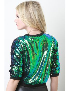 iridescent-sequin-pullover-top by urbanog