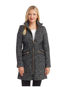 faux-leather-accented-tweed-coat by via-spiga