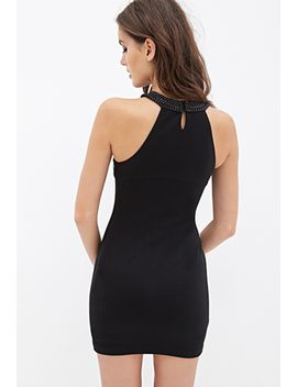 beaded-halter-bodycon-dress by forever-21