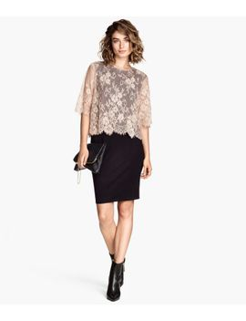 dress-with-lace-top by h&m