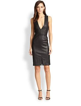 corwin-open-back-leather-dress by alice-+-olivia