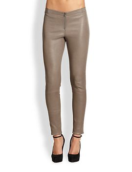 front-zip-leather-legging by alice-+-olivia