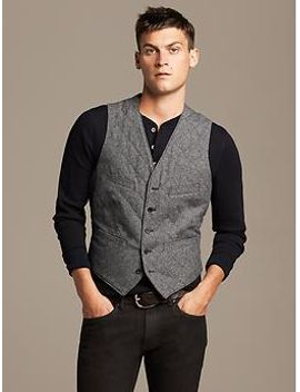 quilted-gray-twill-vest by banana-repbulic
