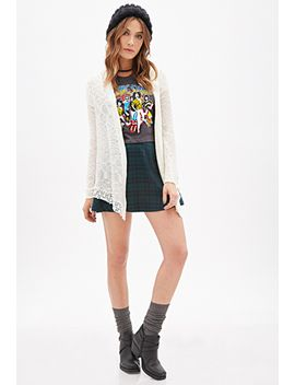 hooded-crochet-trimmed-cardigan by forever-21