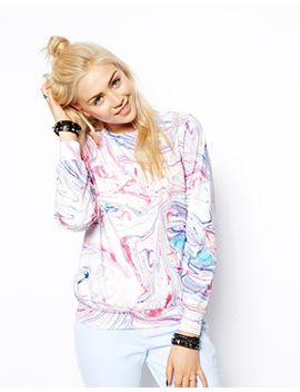 asos-marble-print-neoprene-sweatshirt by asos-collection