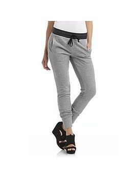 juniors-french-terry-knit-jogger-pants---heathered by kmart