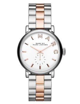 baker-two-tone-bracelet-watch,-36mm by marc-jacobs