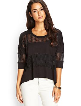 striped-lace-top by forever-21