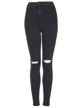 moto-black-ripped-joni-jeans by topshop