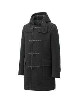 men-wool-blended-duffle-coat by uniqlo