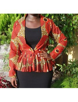 african-record-peplum-jacket by msalaba