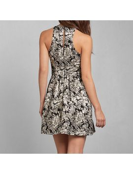mckenna-jacquard-dress by abercrombie-&-fitch