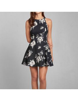 larissa-skater-dress by abercrombie-&-fitch