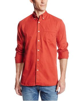 dockers-mens-long-sleeve-cotton-twill-basic-one-pocket-shirt by dockers