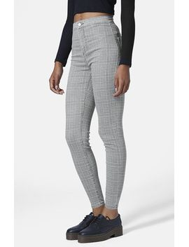moto-joni-prince-of-wales-plaid-high-rise-skinny-jeans by topshop