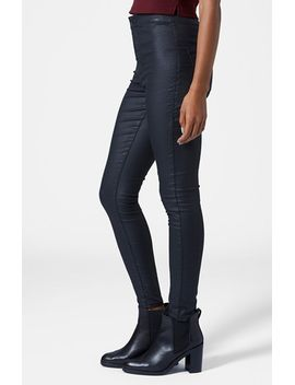 moto-joni-coated-skinny-jeans by topshop