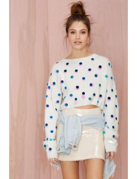joa-snowflake-sequin-sweater by nasty-gal