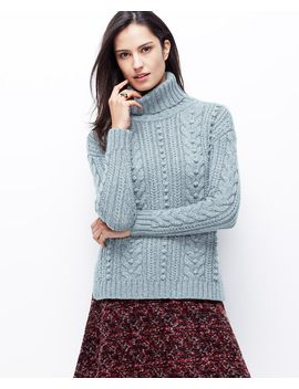 cable-turtleneck-sweater by ann-taylor