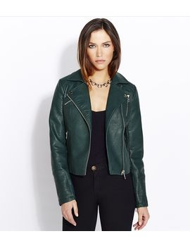 faux-leather-biker-jacket by dynamite