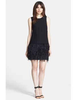 cera-tuxedo-ostrich-feather-dress by tibi