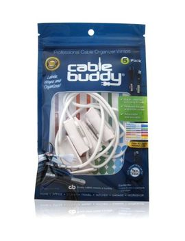 cable-buddy®-5-pack,-white---cable-organizer-ties-with-color-id-labels by cable-buddy®
