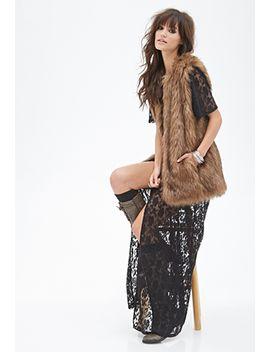 longline-faux-fur-vest by forever-21