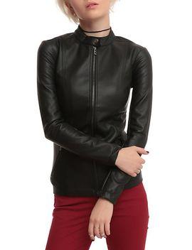 joan-jett-tripp-nyc-black-pleather-jacket by hot-topic