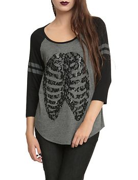 lace-rib-cage-girls-raglan by hot-topic
