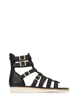 buckled-gladiator-sandals by forever-21