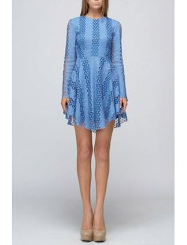 blue-crochet-dress by bonded-boutique,-philadelphia