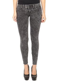 lovesick-black-acid-wash-super-skinny-jeans by hot-topic
