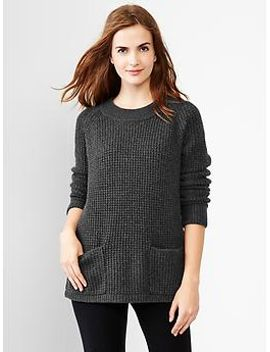 waffle-knit-sweater by gap