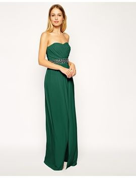 asos-bandeau-maxi-with-trim-dress by asos-collection