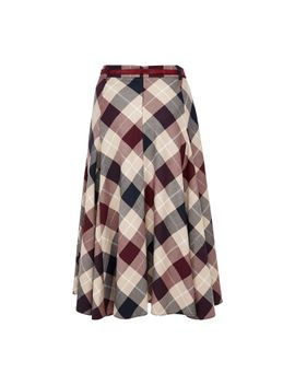 flared-check-skirt by cc