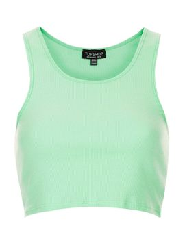 ribbed-cropped-vest by topshop