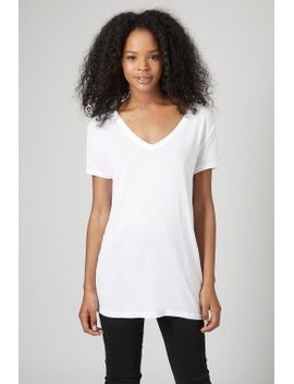loose-fit-v-neck-tee by topshop