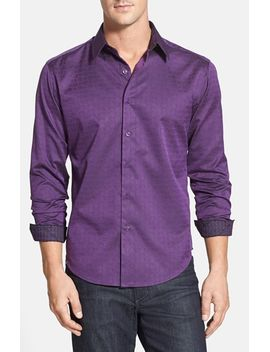 whitehorse-classic-fit-jacquard-sport-shirt by robert-graham