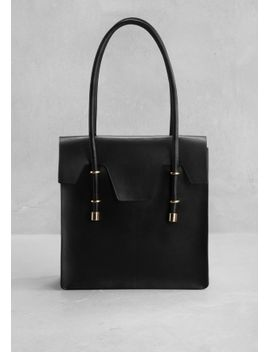 structured-leather-tote by &-other-stories