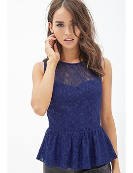 lace-peplum-top by forever-21