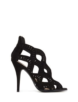 faux-suede-cutout-heels by forever-21