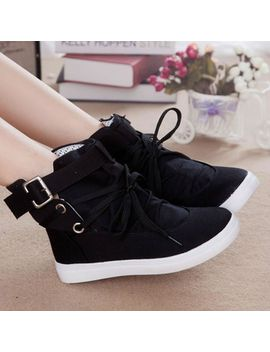 2014-summer-autumn-lacing-high-canvas-shoes-female-elevator-platform-womens-casual-flat-sneaker-shoes by ali-express