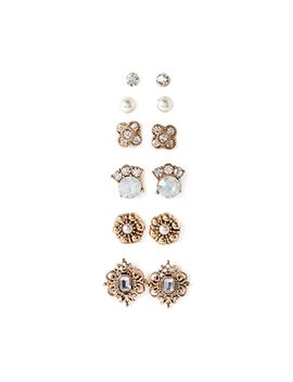mixed-filigree-stud-set by forever-21