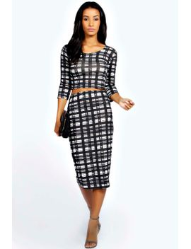 lilly-checked-co-ord-set by boohoo