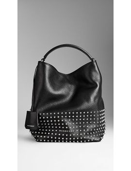 medium-studded-leather-hobo-bag by burberry