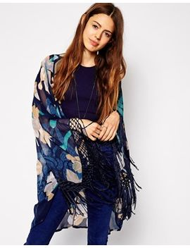 asos-kimono-in-floral-print-with-fringing by asos-collection